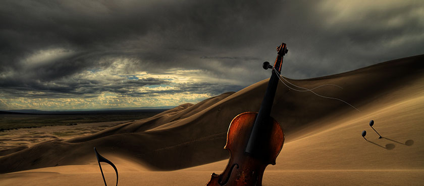 I Played Violin in a String Orchestra in the Desert